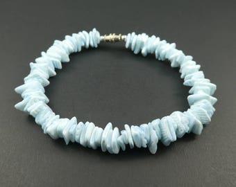 Vintage, Blue Shell, Bracelet, Large Size, STJ68