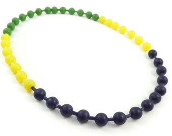 Vintage, Pop Bead, Necklace, Plastic