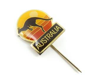 Vintage, Australia Stick Pin, Enamel, Gold Tone, STJ66