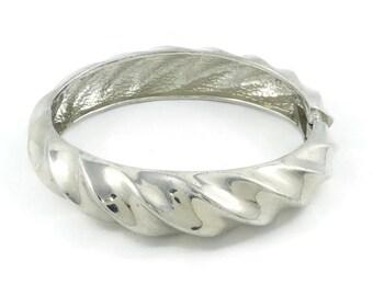 Vintage, Clamper Bracelet, Silver Tone