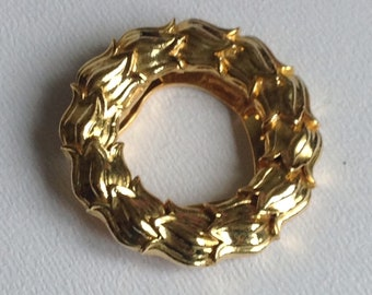 Goldtone Garland Scarf Clip - Vintage Jewellery  - Gifts for Her - Mothers Day