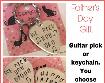 Guitar pick personalised, Fathers Day gift, Hand Stamped ,music gift, guitar gift, gift for him, gift for her, uk seller, personalised,