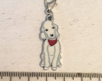Bedlington charm, add on, zip pull, stitch marker,  Bedlington gift, dog charms
