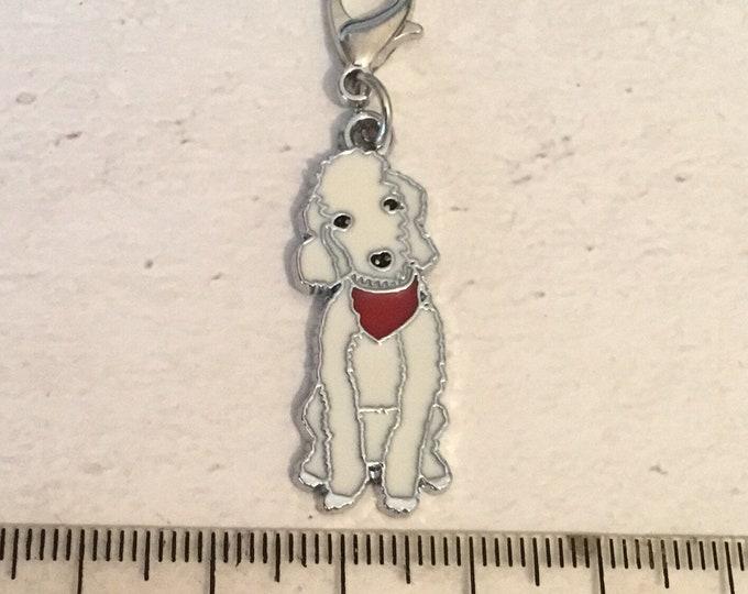 Bedlington charm, add on, zip pull, stitch marker,  Bedlington gift, dog charms