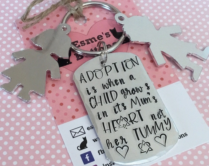 Adoption gift, adopted child, adopted baby, adoption keyring, adoption keychain, gift for her, gift for him, uk seller,