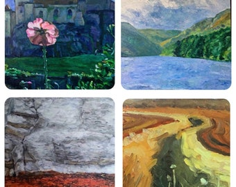 Set of 4 Landscape greetings cards by Mark the Artist