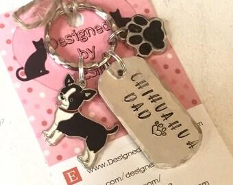 Chihuahua dad dog keyring gift, Chihuahua mum, Fathers Day gift, Mother's  Day gift, Chihuahua keyring gift,  Chihuahua Key Ring,