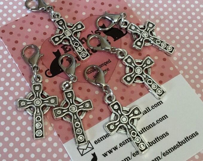 Celtic cross, Celtic cross stitch markers, Celtic stitch markers, Celtic gift, Stitch markers, gift for knitter, knitting gift, crochet gift