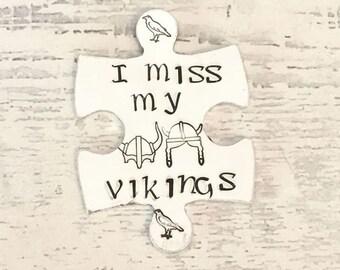 Viking Reenactment cosplay, Lockdown, hug token,interlocking, couple gift keyring, Handstamped, Gift for Her, Gift for him,