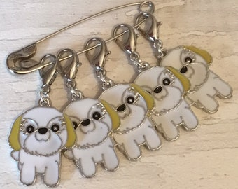 Shih Tzu dog stitch markers, Shih Tzu knitters, shih tzu crocheters, stitch markers,for a knitter,for a crocheter