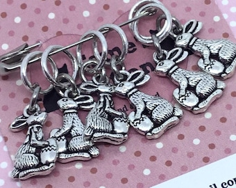 Easter gift, Bunny Stitch markers, gift for knitter, knitting, knit, knitting gift, UK seller, gift for him, gift for her,
