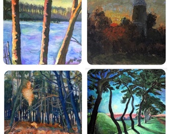 Set of 4 Norfolk Landscape greetings cards by Mark the Artist