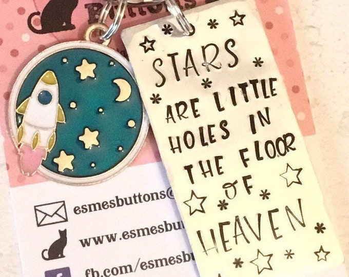 Stars are little holes in the floor of heaven, spiritual gift, affirmation gift, gift for her, gift for him, space gift, star gift,