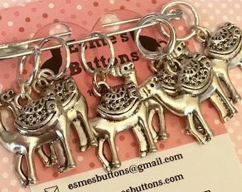 Camel stitch markers, Camel knitting stitch markers, Camel gift, Stitch markers, gift for knitter, knitting gift, crochet gift