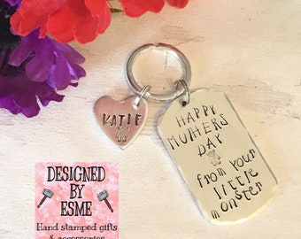 Monster Mothers Day gift, From your little monster children,happy Mother's Day, Hand Stamped gift, Gift for Mum,