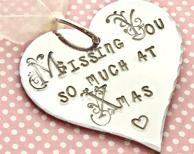Remembrance gift,Missing you so much at Christmas, missing you, miss you, Christmas tree decoration, Remembrance, uk seller, Norfolk,