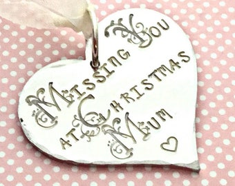 Remembering Mum gift, Missing you at Christmas, missing you, miss you, Christmas tree decoration, Remembrance, uk seller, Norfolk