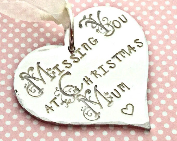 Remembering Mum gift, Missing you at Christmas, missing you, miss you, Christmas tree decoration, Remembrance, uk seller, Norfolk