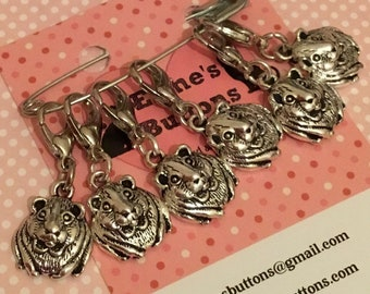 Guinea pig gift, Stitch markers, gift for knitter, knitting, knit, knitting gift, UK seller, gift for him, gift for her,