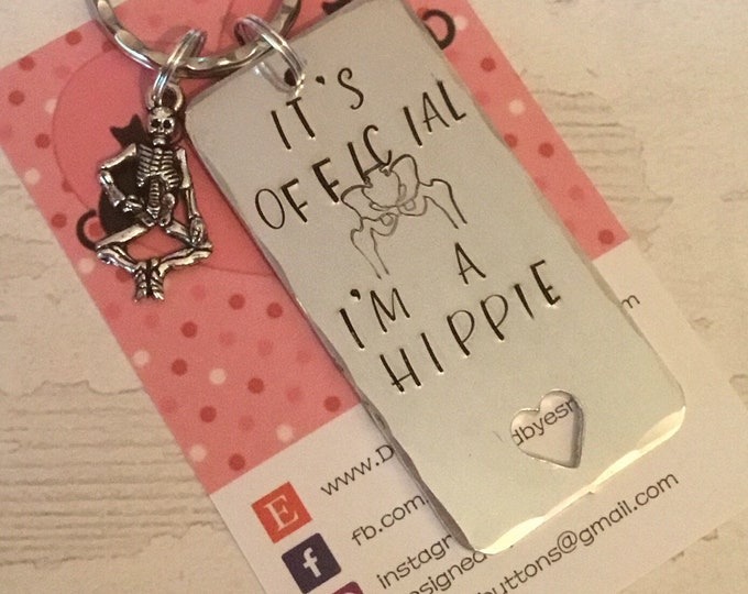 Hip replacement keyring, official hippie, new hip, hip surgery, hip operation, new hip for her, new hip for him, double hippie,