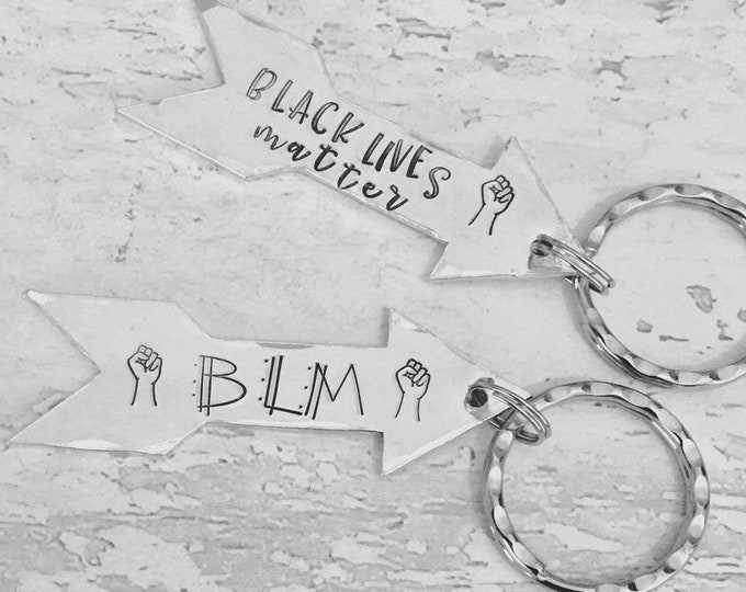 BLM gift, Black Lives Matter, BLM movement, Handstamped, Gift for Her, Gift for him,