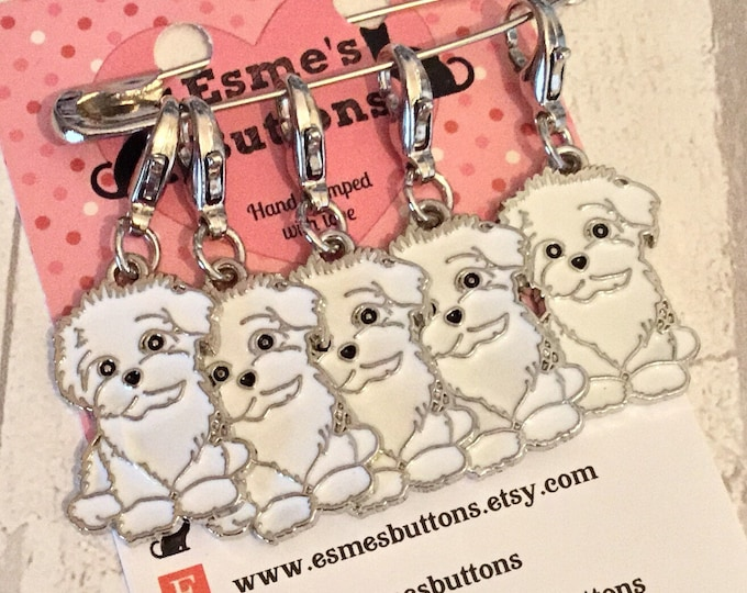Schnoodle dog stitch markers, Schnoodle knitters, Schnoodle crocheters, stitch markers, gift for a knitter, gift for a crocheter