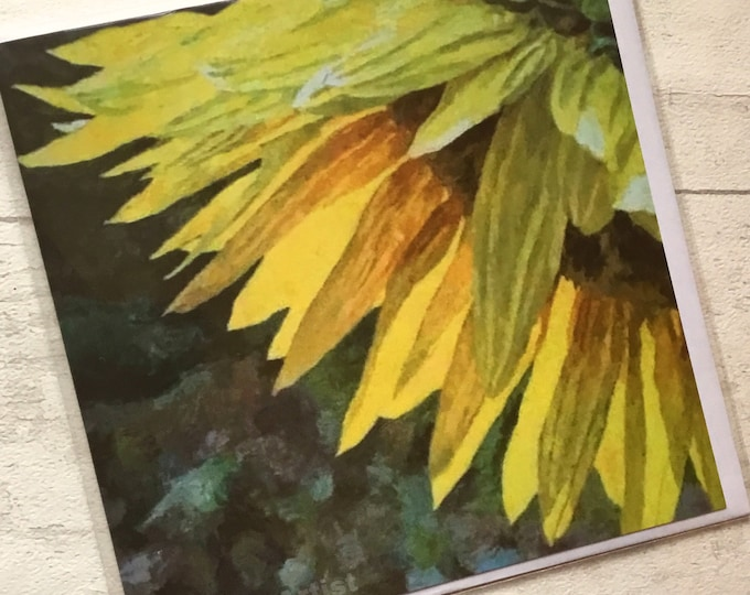 Sunflower, artist card, marktheartist, Still life, for her, for him, Mothers Day flowers
