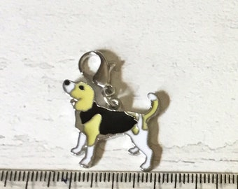 Beagle charm, add on, zip pull, stitch marker, beagle gift, dog charms