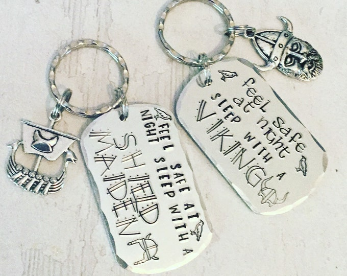 Viking Gift, Sleep with a Viking, shieldmaiden gift, Handstamped, Gift for Her, Gift for him,