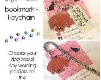 Rhodesian Ridgeback gift pack,Rhodesian Ridgeback keyring, Rhodesian Ridgeback bookmark, dog keychain Key Ring,for Mum, for Dad