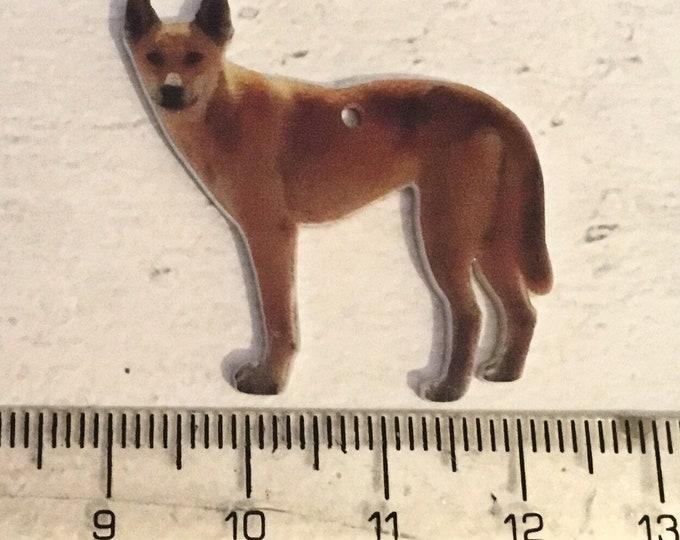 Dingo charm, add on, zip pull, stitch marker,  Dingo gift, dog charms