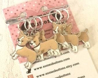 Chihuahua dog stitch markers, Chihuahua knitters, Chihuahua crocheters, Chihuahua stitch markers, gift for a knitter, gift for a crocheter