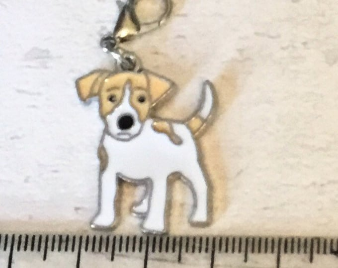 Jack Russell charm, add on, zip pull, stitch marker, jack Russell gift, dog charms