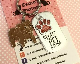 Shar pei keyring , Shar pei gift, Shar pei  owner gift, Hand Stamped Key Ring, Dog Owner gift, pet Owner gift, Pet Lover,