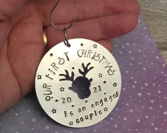 Our First Christmas……as an engaged couple, a forever family,  in our own home, Christmas tree gift,