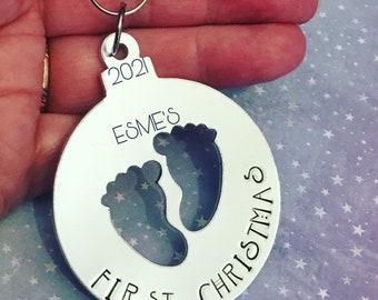 Baby's First Christmas, Christmas tree ornament, baby keepsake,