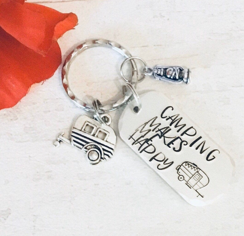 Caravan keys keyring Adventure gift camping keyring camping image 0