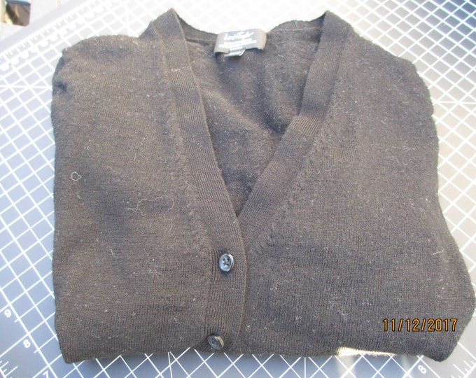 Like New Black Lord Taylor Sweater, Lord & Taylor Extra Fine Merino Wool Petite Sweater