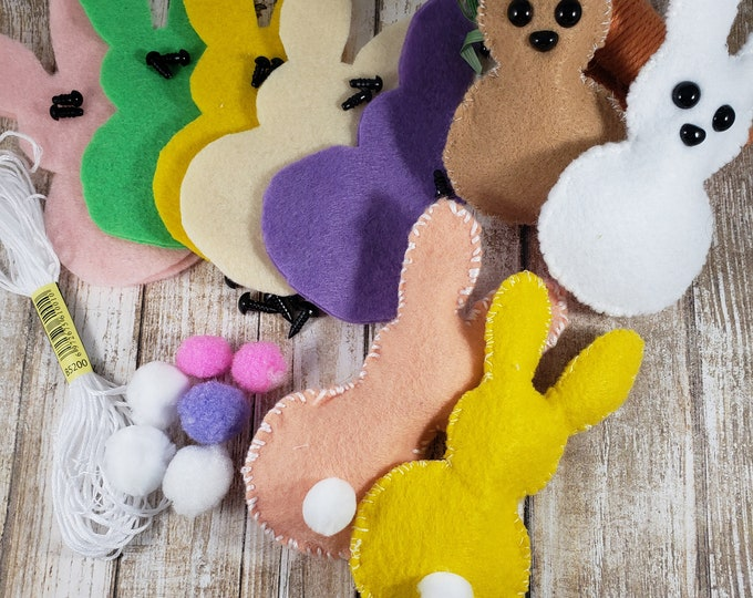 New Sale DIY Stuffed Easter Bunny Kit, Easter Basket Bunny Kit, Easter Basket Bunny, Easter Bunny Favors, Easter Bunny Pins