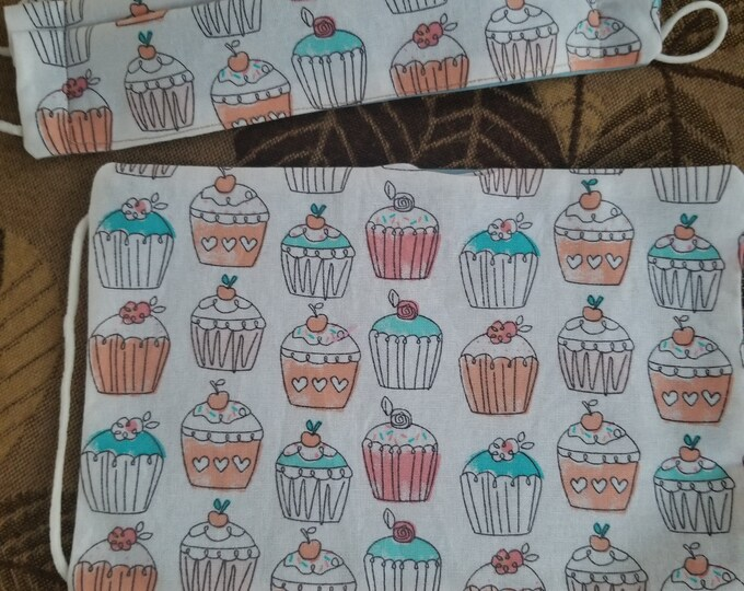 New Handmade Children's Cupcake Face Masks, Girls Cupcake Face Mask, Back to School Fall Face Masks, Teachers Face Masks Supplies,