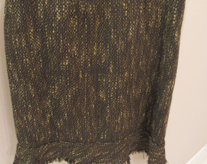 Womans Consignment, Womens Brown Wool Skirt, Brown Skirt, Wool Suit Skirt