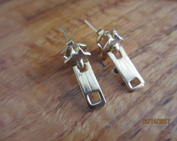 Cute Small Zipper Earrings, Sewers Gift, vintage zipper Earrings