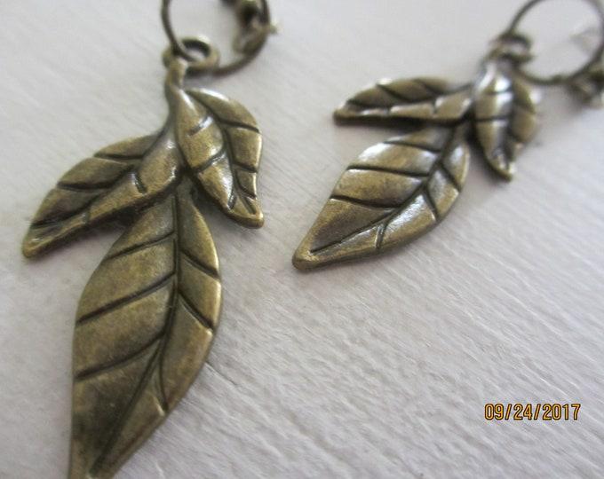 New Fall Leaf Charm Earrings, Fall Leaf Earrings, Fall Earrings, Fall Jewelry
