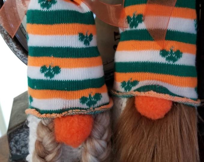 Handmade Super Cute St Patrick's Day Gnome, Anniversary Gnome, Wedding Gnome, Irish Clover Love Gnome, Wedding Gnome,