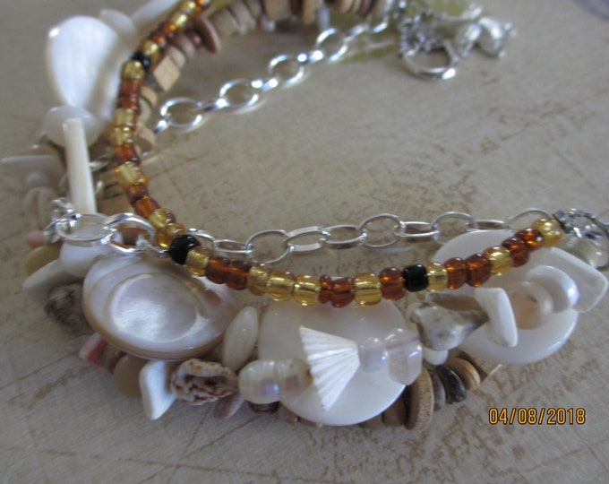 Rustic-Style-Beach-Bracelet-Multi-Strand-Starfish-Charm-Bracelet-Shell-Bracelet, Honeymoon Beach Bracelet,
