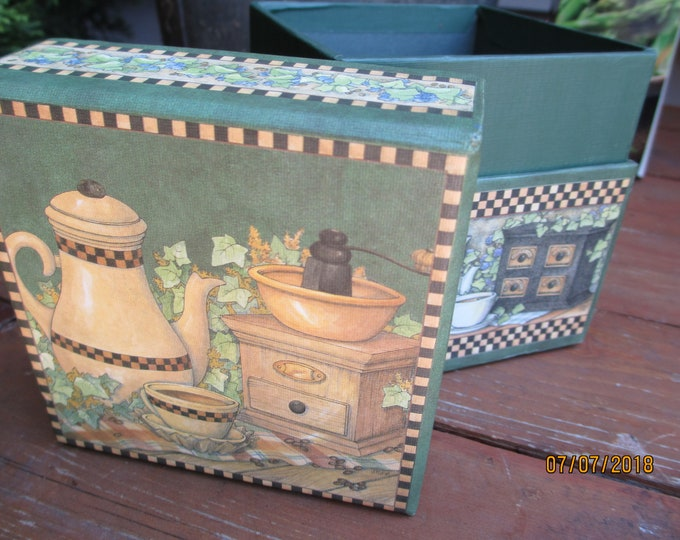 Cute Colorful Tea Storage Box, Decorative Trinket Storage Box, Tea Themed Storage box