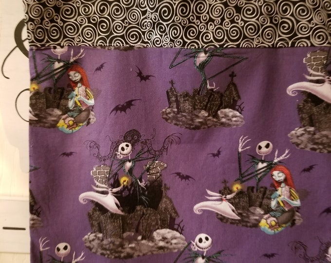 New Handmade Children's Nightmare Before Christmas Jack and Sally Trick or Treat Bag, Jack and Sally Treat Bag, Treat Bag, Teachers Tote Bag
