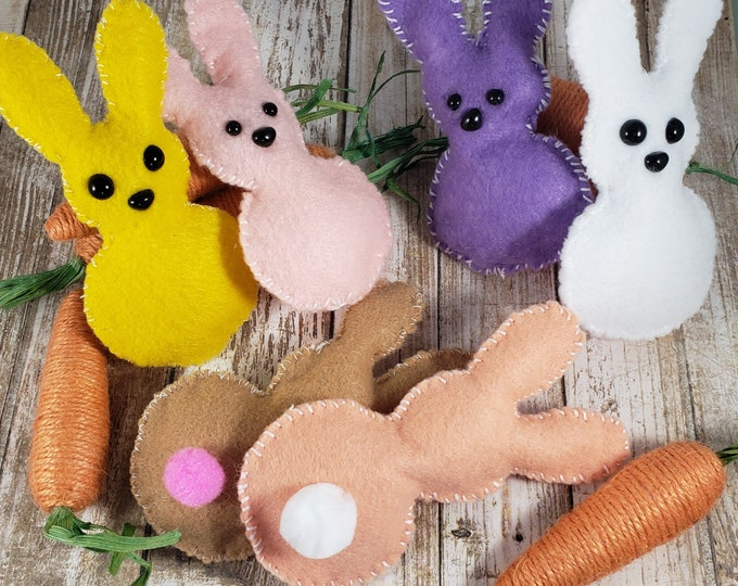 New Set of 6 Sale Stuffed Easter Bunny, Easter Basket Bunny, Easter Basket Bunny, Easter Bunny Favors, Easter Bunny Dolls