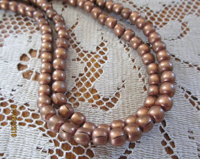 Pretty Long Brown Vintage Fall Beaded Necklace, Long Tie Beaded Necklace,
