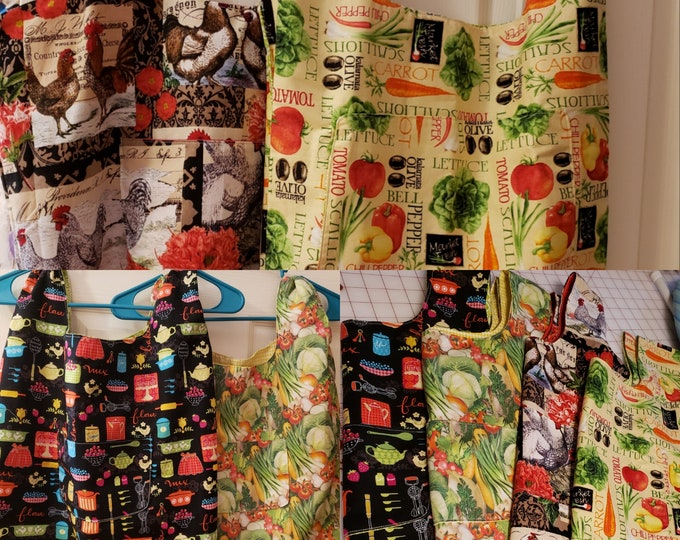 New Reversible Grocery Tote, Reversible Market Tote, Reusable Grocery Bag, Vegetable Fabric Tote Bag, Fabric Book Bag, Craft tote Bag